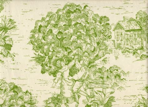 tailored valance apple green toile traditional curtains