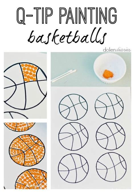 tip painting basketballs kids sports crafts sports theme classroom  tip painting