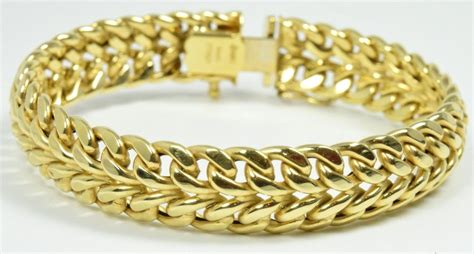Women's Boomingdales Yellow Gold 14k Solid Gold Bracelet. Quatrefoil Necklace. Tusk Pendant. Blazer Brooch. Bouquet Rings. Black Jade Rings. Cut Bands. Model Necklace. Gold Engagement Rings