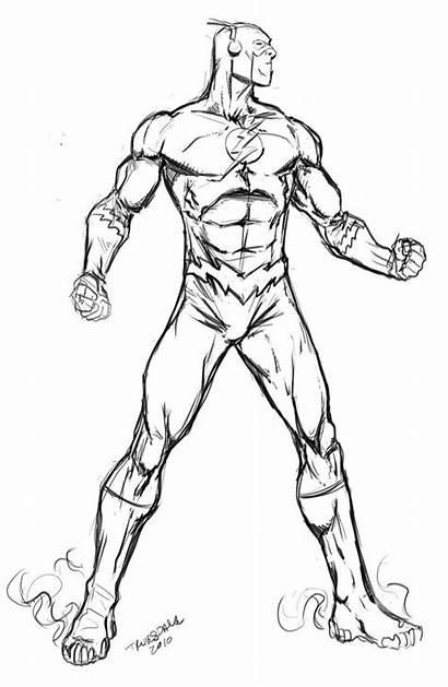 Flash Coloring Pages Dc Comics Superhero
