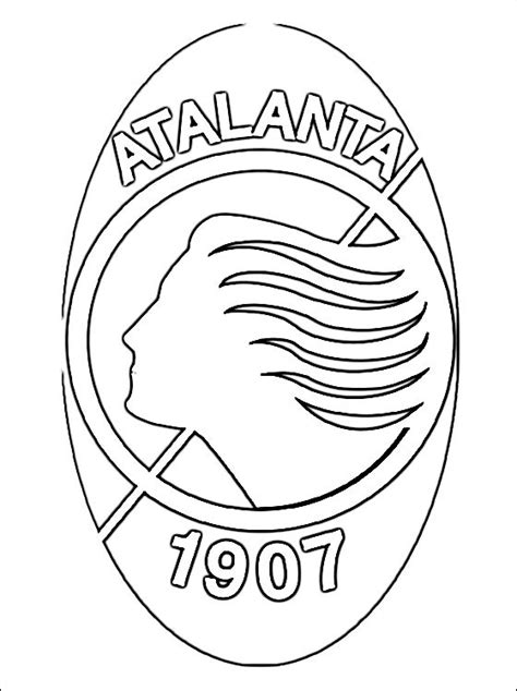 coloring page  atalanta bc logo coloring pages