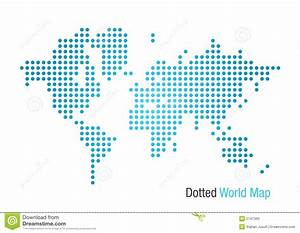 Dotted World Map stock vector. Image of africa, isolated ...