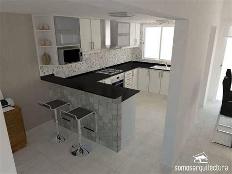 diseno interior sobre area publica de vivienda cocinas de