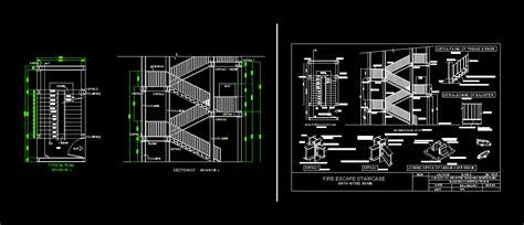 fire escape dwg detail  autocad designs cad