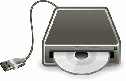 Dvd Cd Clipart Player Burner Drive Optical