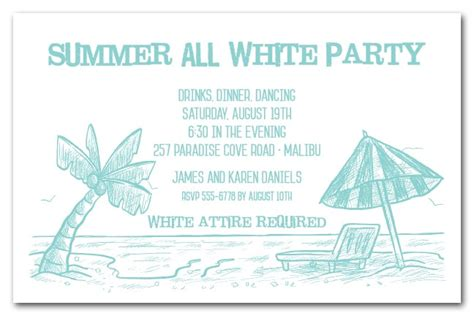 beach shoreline party invitations