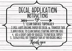 Decal Instructions Svg Care Card Svg Includes Svg And Png