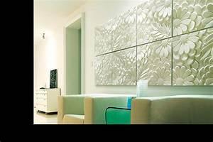 Wall art ideas design green decorations 3d wall art for Panel wall art