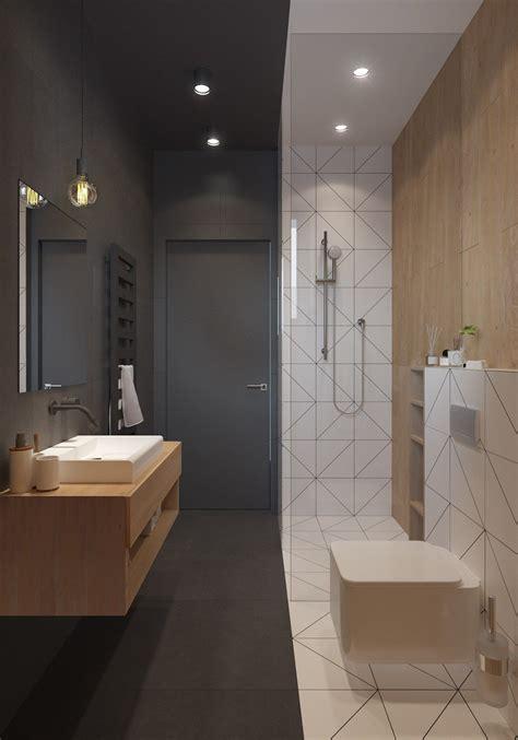 Ultra Moderne Badezimmer by Homedesigning Via A Sleek And Surprising Interior