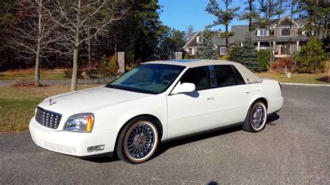 cadillac deville  salenew vogue chrome rimscotillion whiteone owneronly  miles