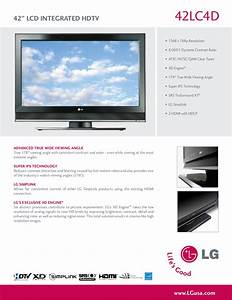 Download Free Pdf For Lg 42lc4d Tv Manual