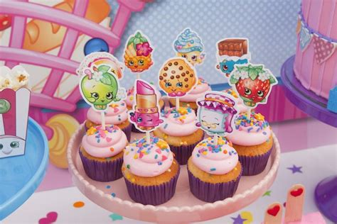 karas party ideas cupcakes   shopkins birthday party