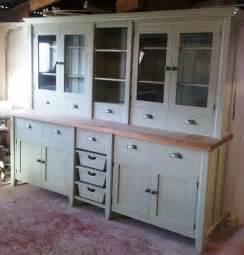 amish kitchen island painted free standing kitchen large basket dresser unit ebay