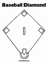 Coloring Baseball Field Stadium Clipart Diamond Popular Colouring Template Library sketch template