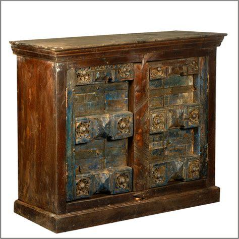 rustic accent cabinet reclaimed wood antique door storage buffet accent cabinet