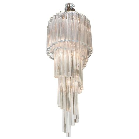 Cascading Chandelier by Venini Five Tier Cascading Chandelier With Murano Glass