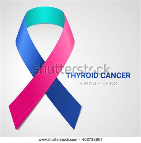 thyroid cancer ribbon color thyroid cancer stock vectors vector clip