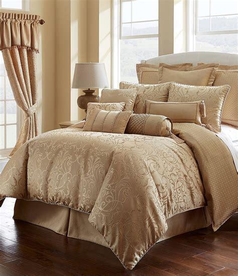 gold comforter set waterford lynath filigree woven geometric jacquard