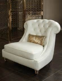 aico mia bella damario white gold leather tufted chair a
