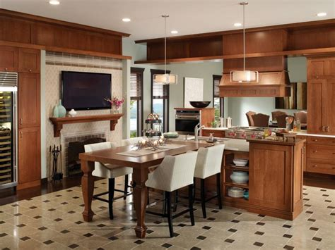 kitchen l shaped island design craft cabinets l shaped island with work 5297
