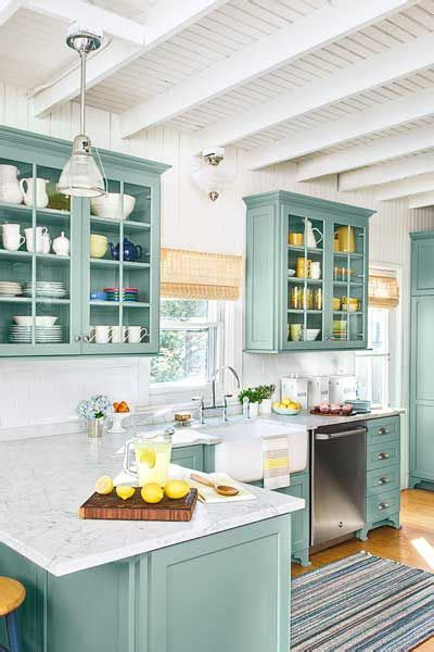 green blue kitchen 23 gorgeous blue kitchen cabinet ideas 1349