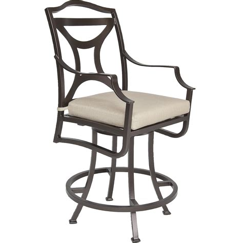 swivel counter stool with arms hauser s patio
