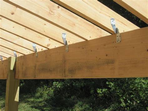 framing  hangars  roof members pergola plans diy