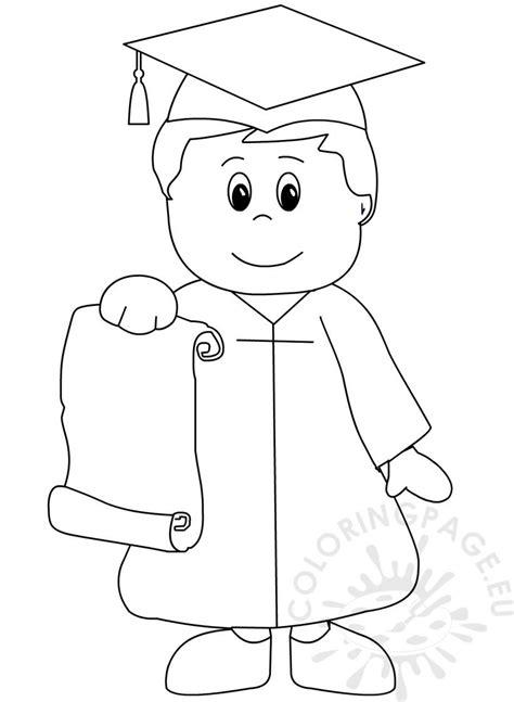 kindergarten graduation coloring page  preschool coloring page