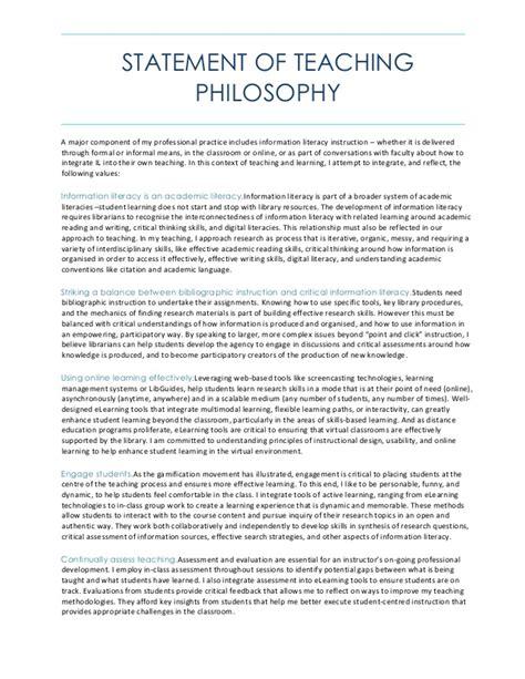 teaching philosophy template statement of teaching philosophy