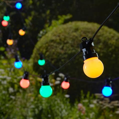 Bunte Lichterkette Garten by Led Lichterkette Bunt 20 Leds Bunte Lichterkette