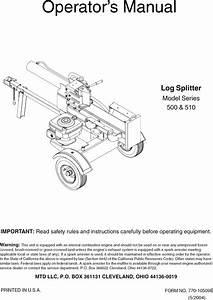 Mtd 24af501b700 User Manual Log Splitter Manuals And