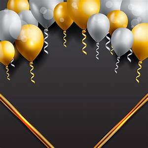 Birthday Greeting Card Background Design Celebration Background With Balloons Download Free