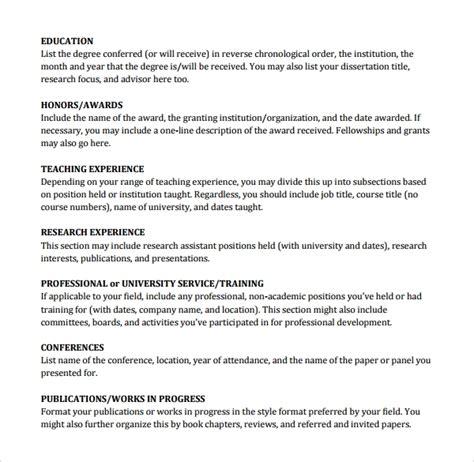 cv template zoology  printable  docx