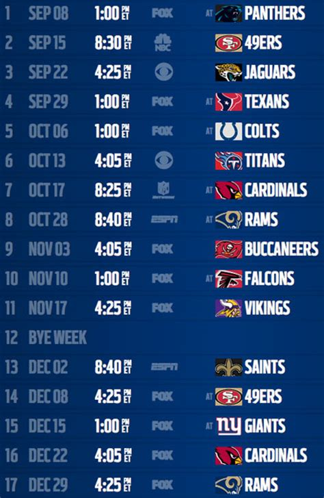 seahawks schedule  year