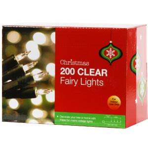 buy christmas fairy lights 200 clear at home bargains