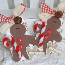 gingerbread men country themed handmade christmas gift tag ornament s