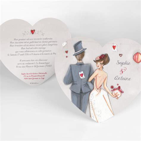 texte pour faire part de mariage original faire part mariage en forme de coeur faire part