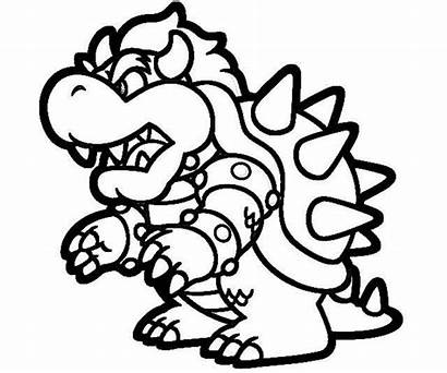 Mario Coloring Bowser Super Pages Characters 3d