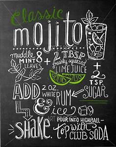 Tableau Ardoise Cuisine : tableau recette cocktail mojito cuisine ardoise tableau craie maisson idea pinterest ~ Teatrodelosmanantiales.com Idées de Décoration