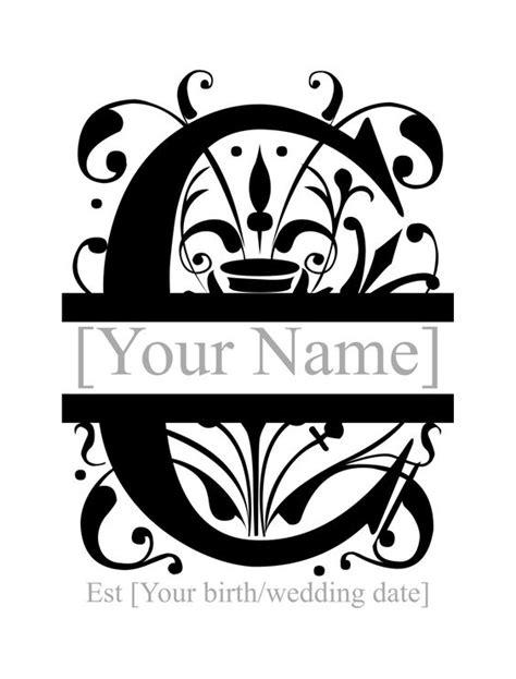 letter c monogram template pin split letter monogram chevron on crafty
