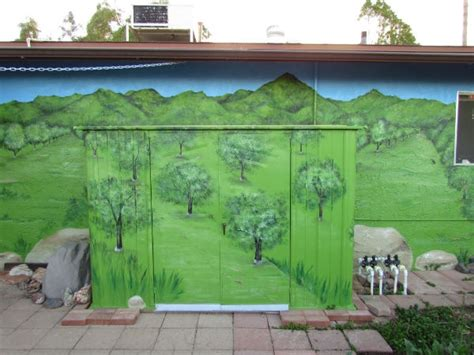 outdoor murals 1000 images about outdoor mural on pinterest trees container gardening and flamingo illustration