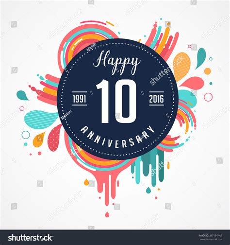 anniversary abstract background icons elements stock