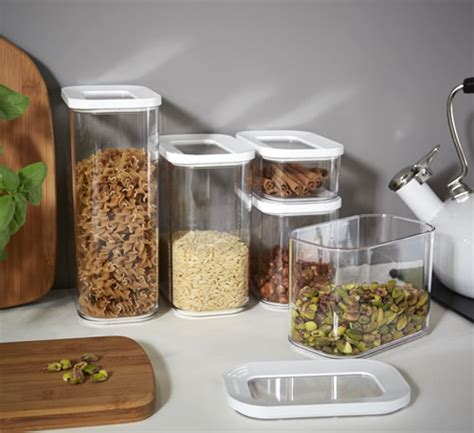Clear Kitchen Canisters by Store 5 X Clear Kitchen Storage Canisters