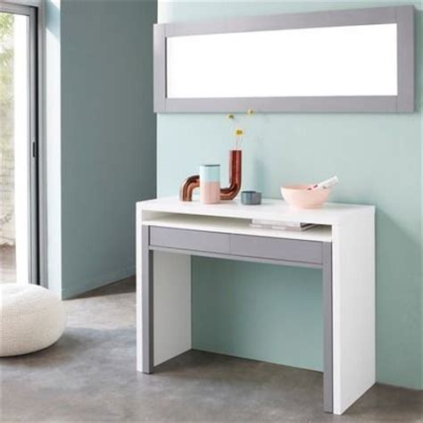 bureau console retractable