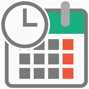 Calendar, clock, date, event, month, time, timetable icon ...