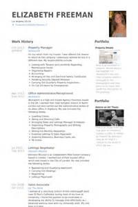 property manager resume sles visualcv resume sles