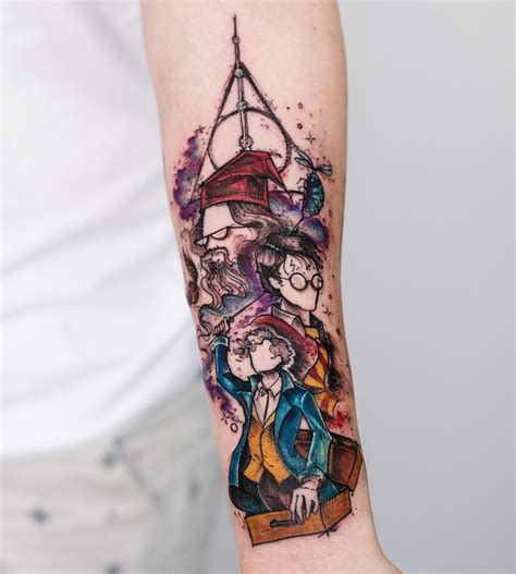 harry potter tattoo  girls forearm  tattoo design