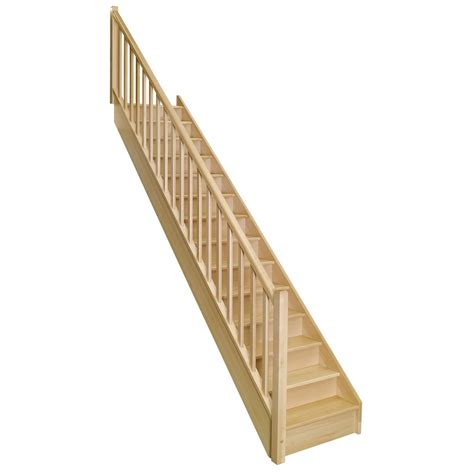 escalier droit soft classic structure bois marche bois