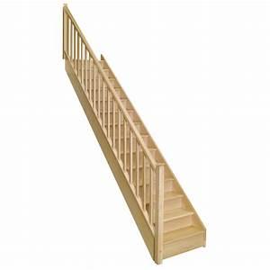 Escalier Droit Bois : escalier droit soft classic structure bois marche bois ~ Premium-room.com Idées de Décoration