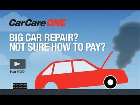 Auto Repair Financing  Carcareone Youtube